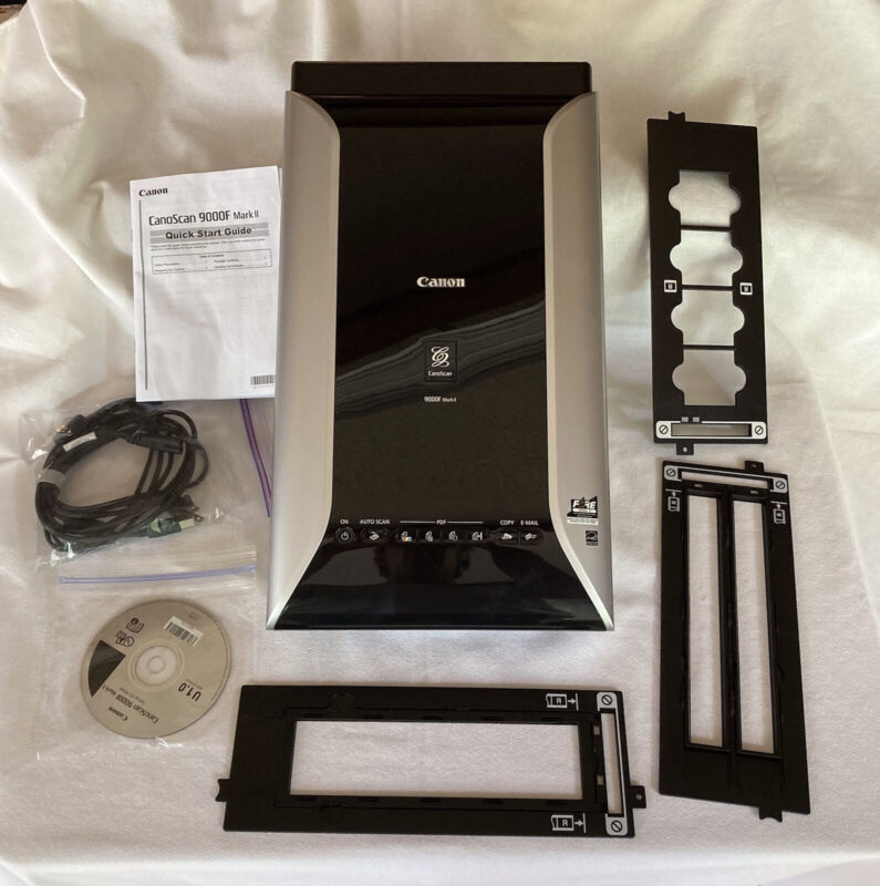 Canon CanoScan 9000F Mark II Scanner With Three Slide/Film Trays - Excellent