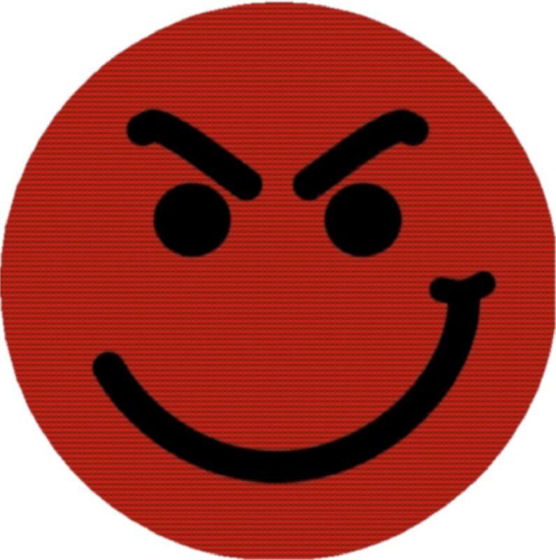 Bon Jovi Smirky Guy Logo Smirk Drink Coasters Polyester Top Rubber Bottom Set 4