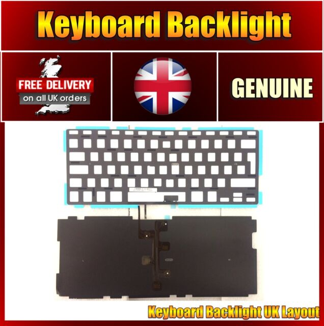 "Background Keyboard Lighting for Apple MacBook Pro 13"" A1278 Backlight Only UK"