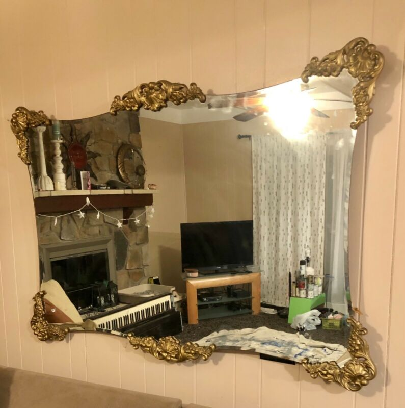 Antique vintage styled decorative wall mirror