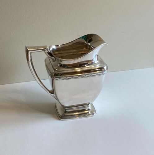 """*NICE* 1847 ROGERS BROS ANNIVERSARY PATTERN SILVERPLATE PITCHER 00526 9"""""""
