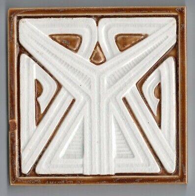 Art Nouveau original period majolica bullnose tile CARAMEL SIENNA 6/'/' x 3/'/'