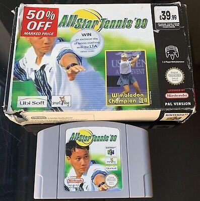 ALL STAR TENNIS '99 - 1999 - USED BOXED No Manual - NINTENDO 64 N64 - PAL