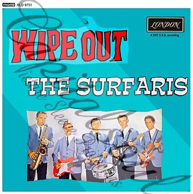 60S INSTRUMENTAL POP LONDON THE SURFARIS WIPE OUT PICTURE SLEEVE
