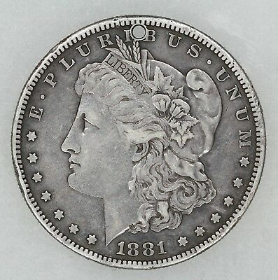 "1881 MORGAN DOLLAR LOVE TOKEN ENGRAVED ""FROM CC TO DF"" (6594)"
