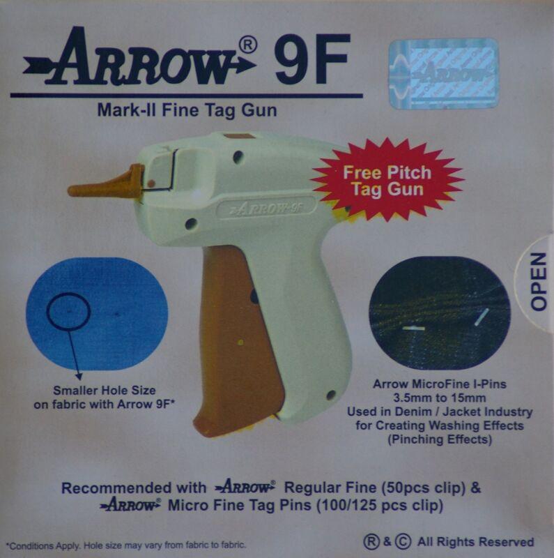 Arrow FINE Needle Tag Gun +1000 White Micro Barbs 50mm Cloth Tagging Attacher