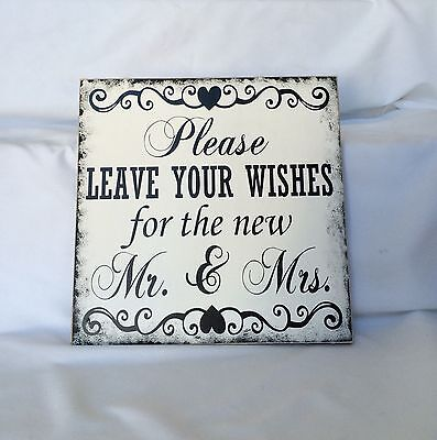 Wedding Sign, Please Leave Your Wishes For The New Mr. And - Mr And Mrs Signs For Wedding