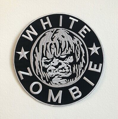 White Zombie Grande Motorista Chaqueta Espalda de Coser Parche Bordado
