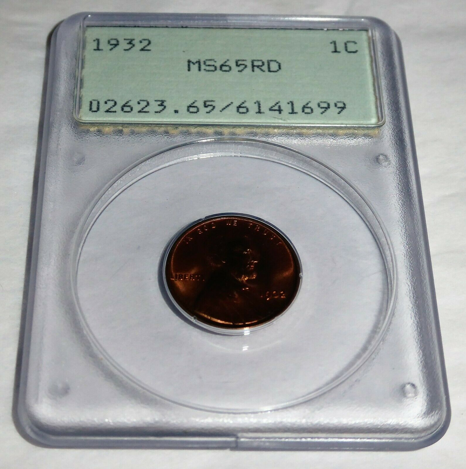 1932 1C PCGS MS65RD Lincoln Wheat Small Cents One Penny Cent Coin Currency 💎