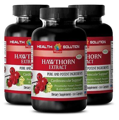 heart health vitamins - HAWTHORN EXTRACT - wellness - 3 Bottles (360 Capsules)