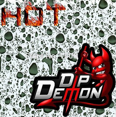 Hydrographic Film Water Drops Transfer Hydro Dip Demon Dipping Gray Transparent