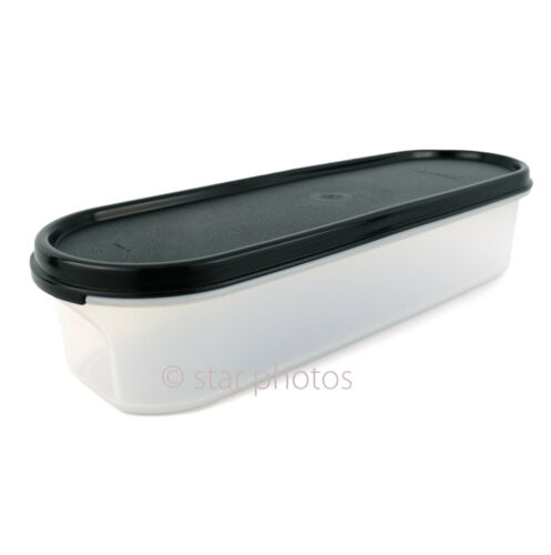 Tupperware Modular Mates 3.5 Cup Super Oval #1 Container with Black Seal - New