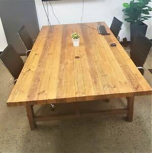 WOODEN DINING/BOARD TABLE