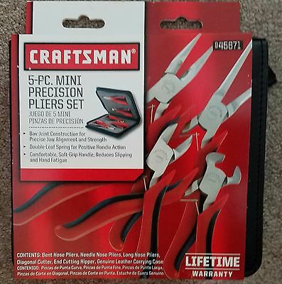 Craftsman 5 pc. Mini-Pliers Set New!