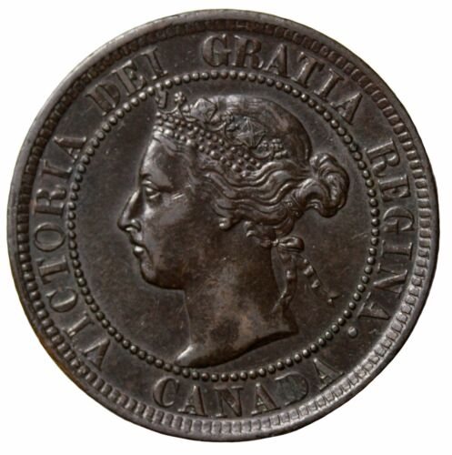 1900-H Canada 1c Large One Cent KM#7 Queen Victoria British Coin