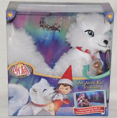 NEW Elf On The Shelf Pets An ARCTIC FOX TRADITION BOOK AND FOX Plush Toy