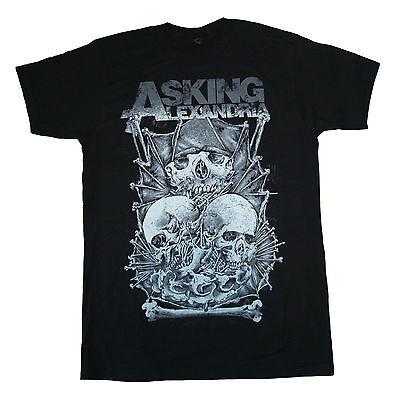 Asking Alexandria   Skulls   T  Shirt S M L Xl 2Xl Brand New Official T Shirt