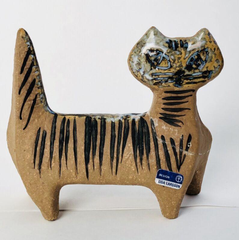 """Repaired"" Vintage Lisa Larsson Cat Gustavsberg  Sweden Zoo Series"
