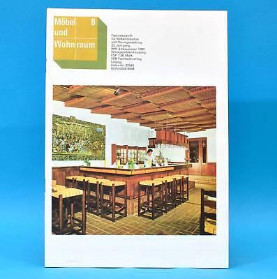 DDR Möbel und Wohnraum 8/1980 Parkhotel Leipzig Anbauküche Salzwedel Dänemark C