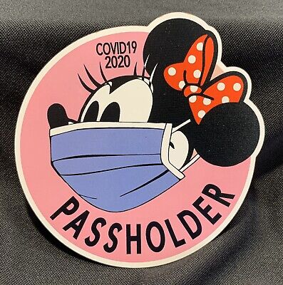 Disney Passholder Minnie Mouse Magnet. Temporary Closing 2020