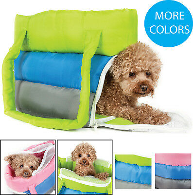 Tri-Colored Insulated Designer Fashion Pet Dog / Cat Carrier Tote Purse Bag ()