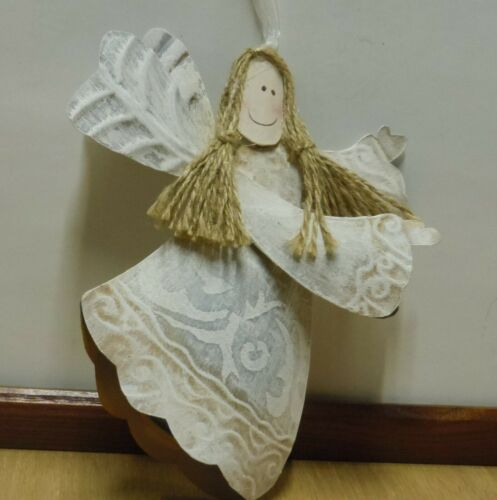 METAL OFF WHITE ANGEL ORNAMENT/TREE TOPPER