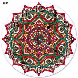 10.5 MANDALA ABSTRACT GEOMETRIC DESIGN CLOCK - Large 10.5 Wall Clock - 3331