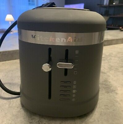 KitchenAid KMT5115DG 4 Slice Slot High-Lift Lever Toaster, Mat Charcoal Gray