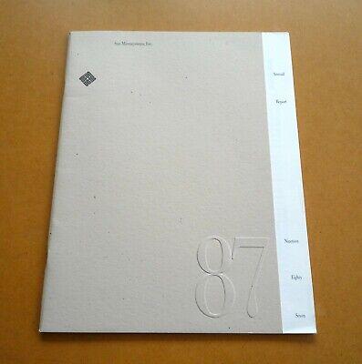 Sun Microsystems Memorabilia: 1987 Annual Reports Silicon Valley SGI competitor
