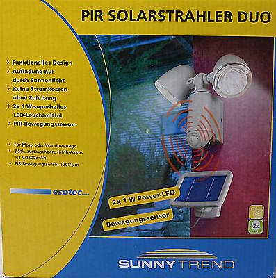 SunnyTrend SLA14 Solar-Wand-Doppelstrahler  Bewegungsmelder (JL9383D)