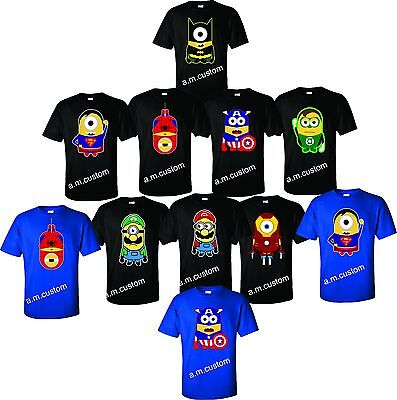 Minions  movie All Characters Funny cute Shirts Unisex, Youth Xs-4XL