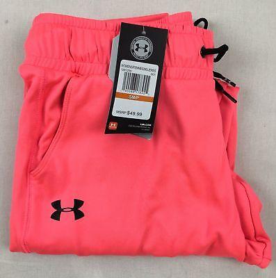 Womens Under Armour Joggers Coldgear Loose Sweats Pants S M L XL Hot Pink DEFECT