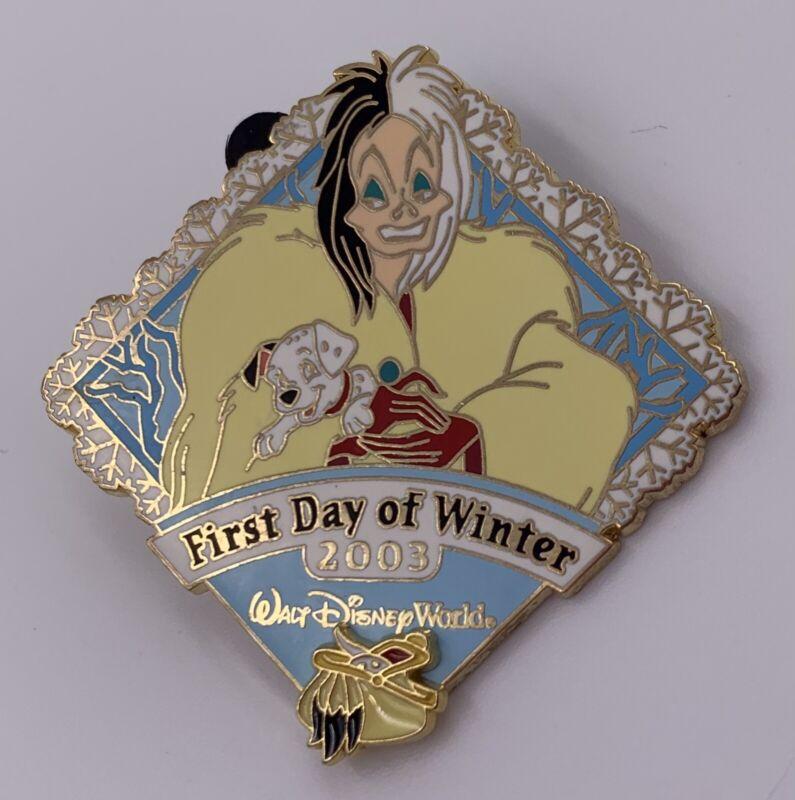 Disney Pin Cruella De Vil 1st Day of Winter 2003, 101 Dalmatians, LE Of 2000