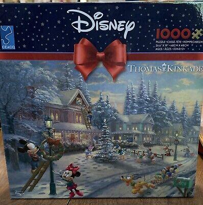 Thomas Kinkade Disney Puzzle Mickeys Victorian Christmas Ceaco 2020 Bonus Poster