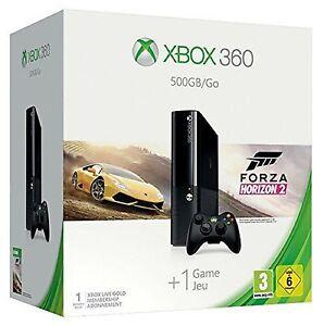 MICROSOFT-Xbox-360-500GB-Go-Forza-Horizon-2-Bundle-Konsole-Schwarz-NEU-amp-OVP