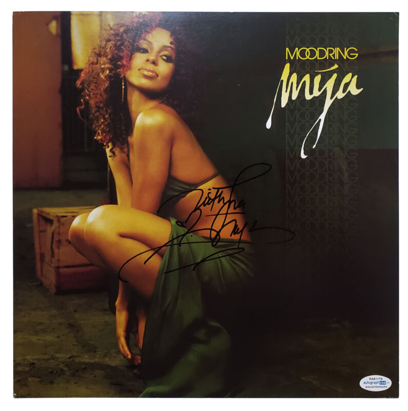 Mya Autographed Signed Album Record LP ACOA