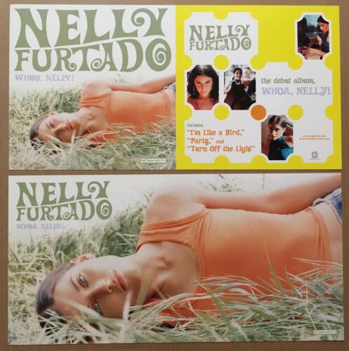 NELLY FURTADO Rare 2000 DOUBLE SIDED PROMO POSTER FLAT for Whoa CD USA 12x24