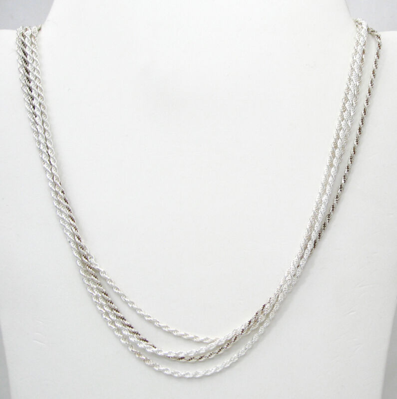 Wholesale Lot of 4 ROPE Chain 925 Sterling Silver Necklaces 16 Inch long F535