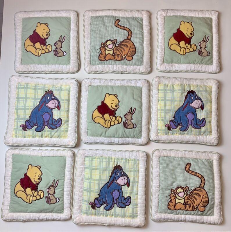 Winnie the Pooh Piglet Eeyore 6 Piece Baby Nursery Wall Decor Plush Hanging