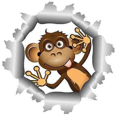 er Affe Äfffchen Einschussloch Aufkleber funny cool Sticker (Coole Aufkleber)