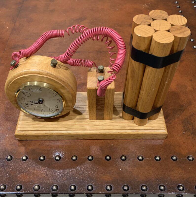 Vintage Quartz Dynamite Desk Clock