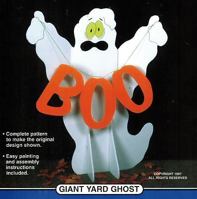 Winfield Collection Giant 5' Yard Ghost Boo Halloween Woodcraft Display Pattern - Winfield Halloween