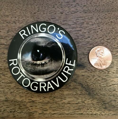 "Vintage RINGO STARR Pinback ""Rotogravure"" Atlantic Records Promo 1976 Authentic"