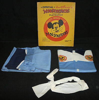 Official Walt Disney's Mouseketeers Costume Playoutfit (NM) 1950's