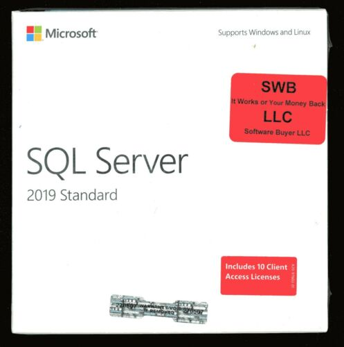 Microsoft Windows SQL Server 2019 Standard 10 CAL 228-11548