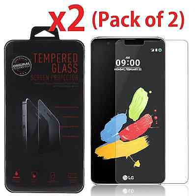 2-PACK Tempered Glass Screen Protector for LG G Stylo 2 / LS775 / Stylus 2