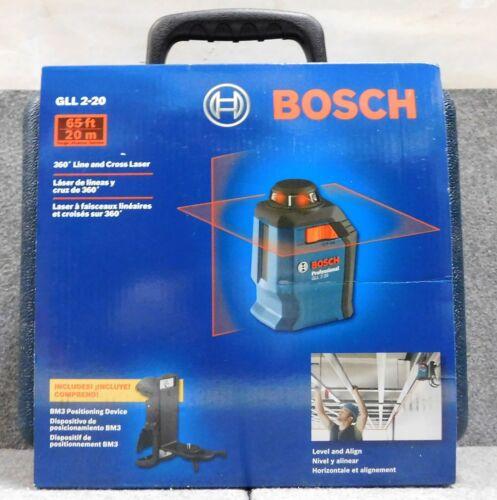 BRAND NEW IN BOX Bosch GLL 2-20 360° Line & Cross Laser Level NIB FREE SHIPPING!