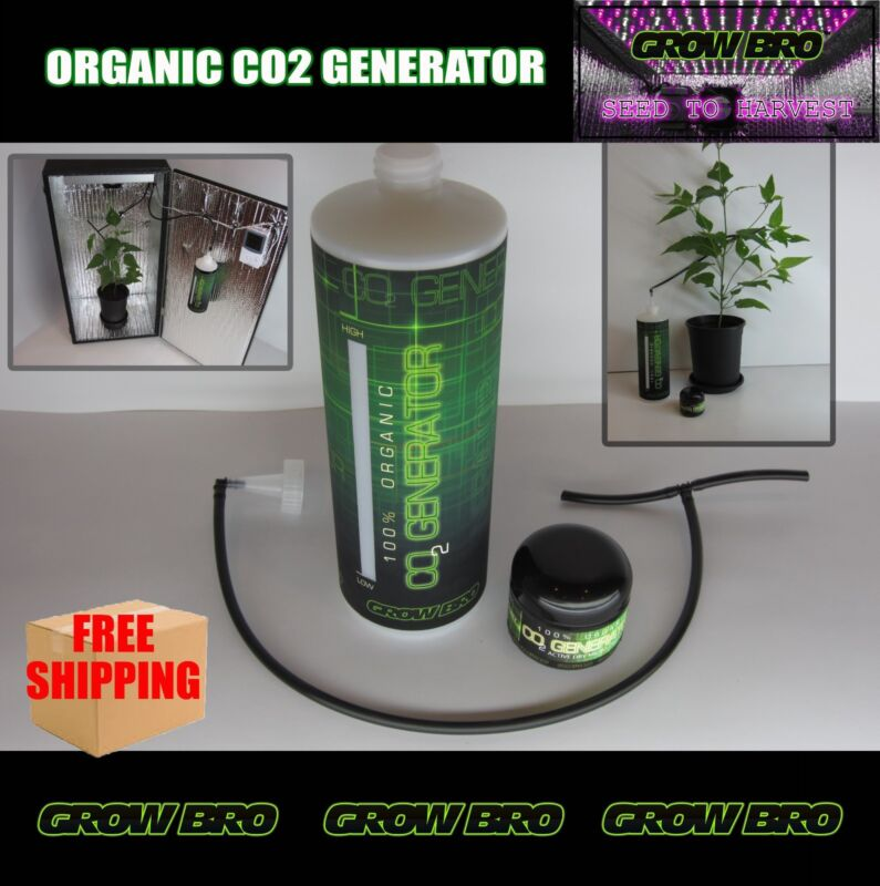 Grow Box Organic CO2 Generator Large Foliage For Tents, Cabinets Indoor Gardens!