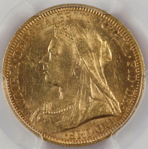 Australia 1893 S 1 Sovereign Sov Gold Coin PCGS MS62 Sydney Victoria Old Head