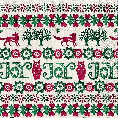 Emma Bridgewater paper 20 Napkins Christmas Joy